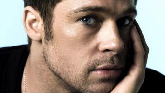 Men brad pitt actors faces Wallpaper
