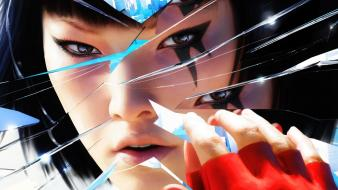 Mirrors edge retro broken glass 3d art wallpaper