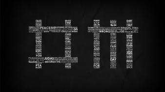 Music text typography grayscale lyrics depeche mode wallpaper