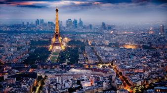 Paris in the evening wallpaper