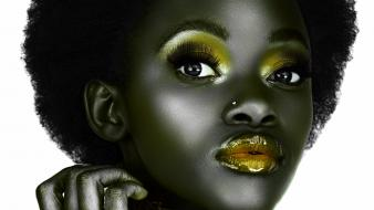 Piercings afro african eye faces black hair wallpaper