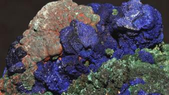 Rocks minerals element copper azure wallpaper