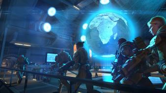 Science fiction gameplay xcom enemy unknow geoscape wallpaper