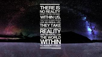 Space text quotes typography reality night sky wallpaper