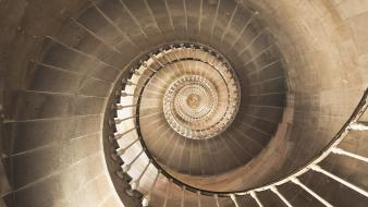 Spiral stairs wallpaper