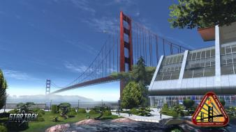 Star trek online golden gate bridge science fiction wallpaper