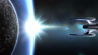 Star trek online spaceships multiscreen odyssey wallpaper
