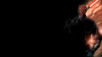 Star wars darth maul sith black background wallpaper