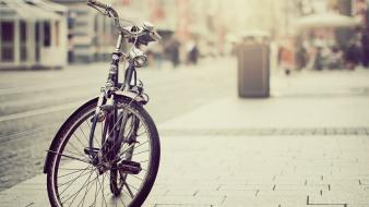 Streets vintage bicycles wallpaper