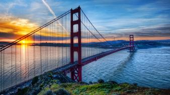 Sunrise architecture bridges golden gate bridge san francisco wallpaper