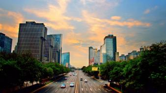 Sunrise cityscapes streets dawn urban beijing pictorial wallpaper