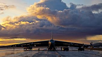 Sunset aircraft b-52 stratofortress aviation Wallpaper
