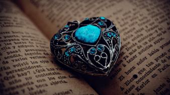 Text books jewelry turquoise pages wallpaper
