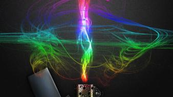 Abstract multicolor fire zippo aokp wallpaper