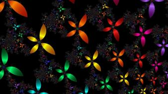 Abstract multicolor fractals wallpaper