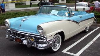 Blue white convertible 1956 ford fairlane wallpaper