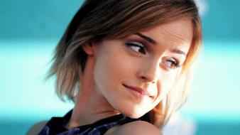 Brunettes emma watson smiling wallpaper