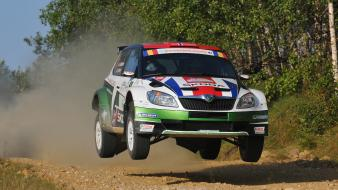 Car skoda fabia s2000 jump intercontinental challenge wallpaper