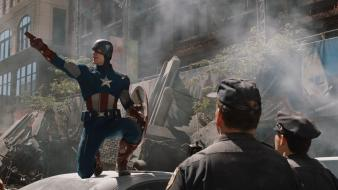 Chris evans marvel pointing the avengers (movie) Wallpaper