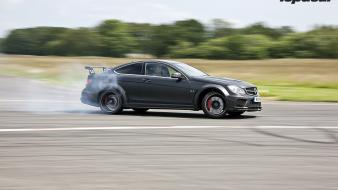Clarkson mercedes benz c63 black series drift Wallpaper