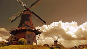 Clouds mill holland wallpaper
