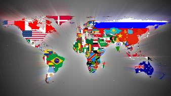 Flags maps world map continent wallpaper