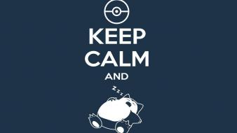 Funny snorlax keep calm and carry on wallpaper