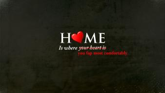 Home funny typography textures hearts black background wallpaper