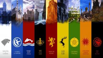 Houses game of thrones logos tv series wallpaper
