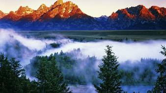 Landscapes dawn wyoming grand teton national park wallpaper