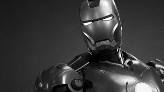 Light black and white iron man movies grayscale Wallpaper