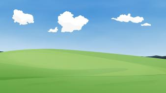 Minimalistic bliss windows wallpaper
