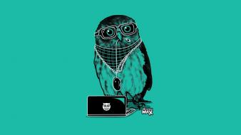 Minimalistic hipster owls simple wallpaper