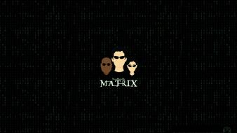 Minimalistic movies neo trinity the matrix morpheus Wallpaper