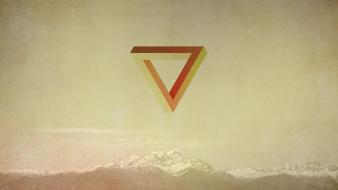 Mountains minimalistic the verge wallpaper