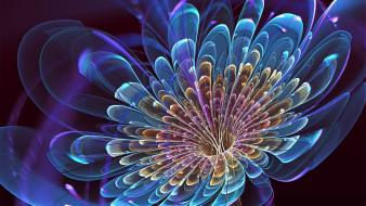 Multicolor fractals digital art wallpaper