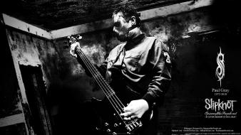 Music bass guitars slipknot bands rip paul grey Wallpaper
