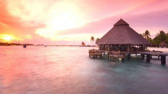 Nature beach maldives asia rest luxury relaxation wallpaper