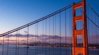 Ocean cityscapes bridges golden gate bridge san francisco Wallpaper