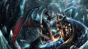 Of warcraft illidan stormrage arthas frozen throne wallpaper
