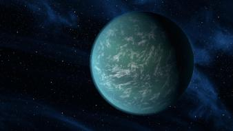 Outer space planets kepler-22b Wallpaper