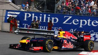 Racing sebastian vettel red bull monte carlo wallpaper