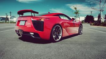 Red cars lexus lfa wallpaper