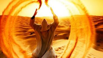 Sand desert bedouin angel wallpaper