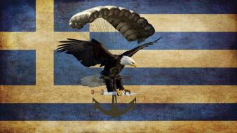 Special air service parachute greek flag hellas wallpaper