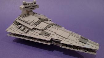 Star wars destroyer blue background legos Wallpaper