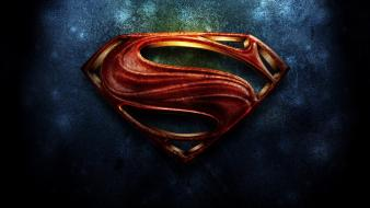 Superman logo man of steel (movie) wallpaper