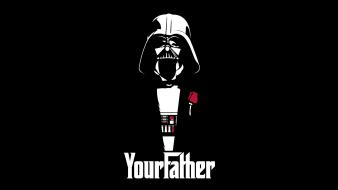 Vader funny the godfather crossovers black background wallpaper