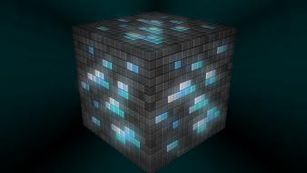 Video games minecraft diamond wallpaper