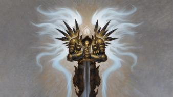 Video games tyrael diablo iii brom archangel wallpaper